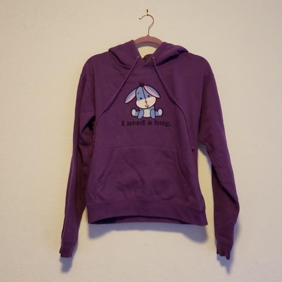 Disney Tops - Eeyore Cuties I Need a Hug Cozy Purple Sweatshirt